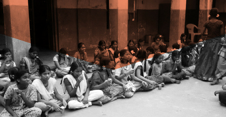 Students consuming Jeevani Milk