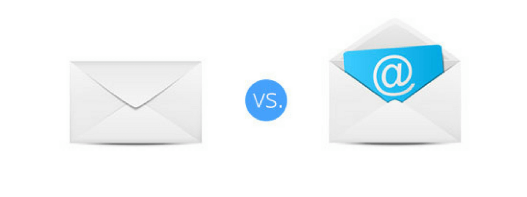Emails instead of print mails