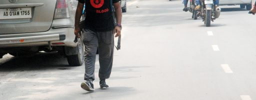 The man who walked to raise awareness about blood donation